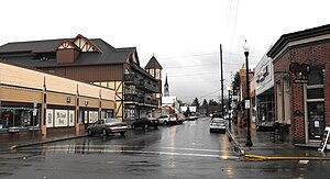 Mt. Angel, Oregon - Charles Street in central Mt. Angel