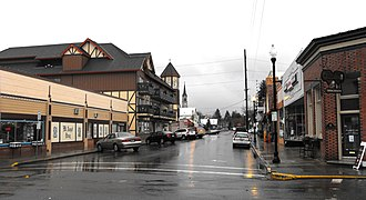 Mt. Angel, Oregon - Charles Street in central Mt. Angel