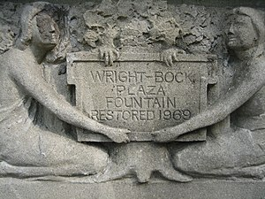 Richard Bock - The Horse Show Fountain's replica relief sculpture which echoes the original work by Bock, c. 1906