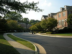 A residential area of Oakton, Virginia in September 2010.
