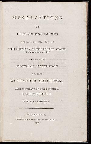 James T. Callender - Image: Observations on Certain Documents Alexander Hamilton 1797