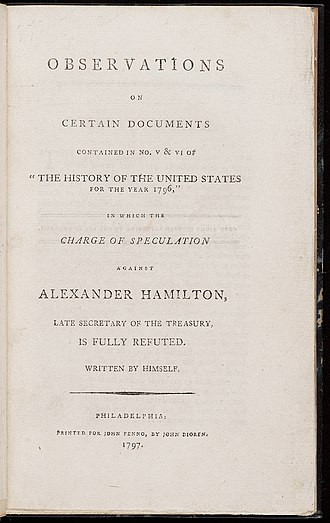 James T. Callender - Image: Observations on Certain Documents Alexander Hamilton 1797