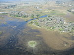 Areal view of Okavango Delta