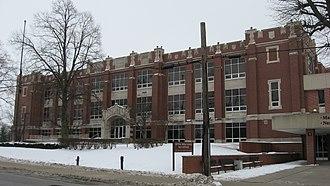 Kokomo High School and Memorial Gymnasium - Front of the school