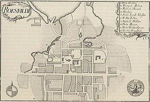Roskilde - Old map of Roskilde