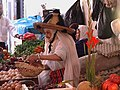 Old woman selling vegetables and eggs to make a living.jpg