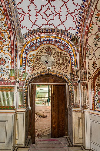 Sunehri Mosque, Lahore - Image: One of the Entrance of main parying chamber of Sunehri Masjid