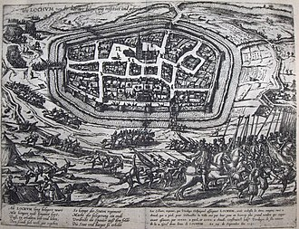 Siege of Lochem (1582) - Liberation of Lochem from the Spanish in 1582. Etching by Frans Hogenberg