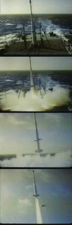Operation Argus - One of the modified X-17A missiles launches from the USS ''Norton Sound'' as part of Operation Argus.