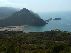 Madagh beach in Oran, Algeria
