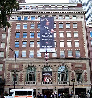Symphony Center concert hall in Chicago, Illinois, United States