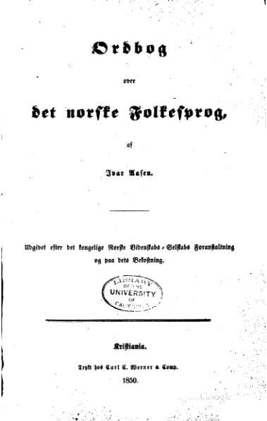 Ivar aasen ordbok