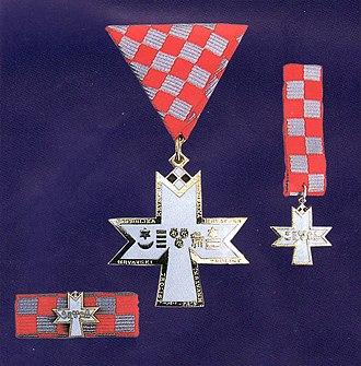 Order of the Croatian Trefoil - Image: Order of Croatian Trefoil