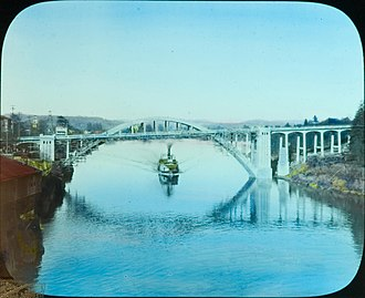 Oregon City Bridge - Image: Oregon City Arch Bridge (32524685390)