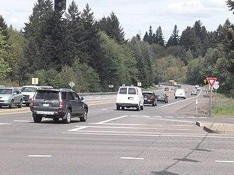 Oregon Route 213 - Oregon 213 where the expressway begins in Oregon City, Oregon.