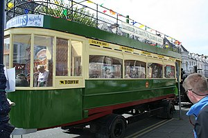 Llandudno and Colwyn Bay Electric Railway - A car body rebuilt by the preservation society