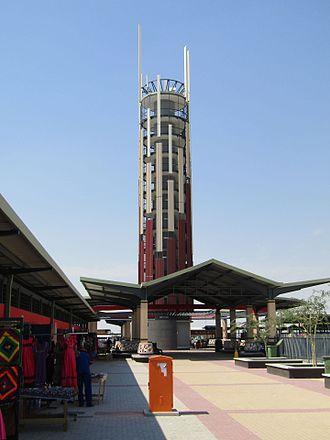 Oshakati - Observation Tower Oshungo ya Shakati at the new market (48 m high)