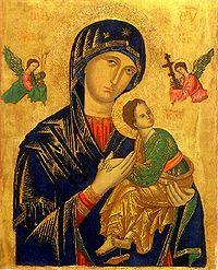 8546254bc أيقونة سيدة المعونة الدائمة، يعتقد بعض المسيحيين أنها عجائبية، وهي تعود  للقرن الثالث عشر والنسخة الأصلية منها محفوظة اليوم في روما.