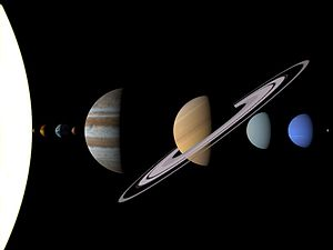 Our Solar System (sizes; distances are not to scale)