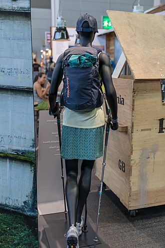 Patagonia (clothing) - Mannequin dressed in Patagonia clothing and gear
