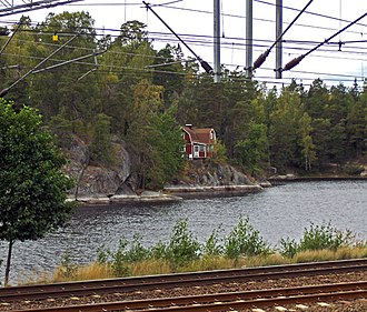Övre Rudasjön - as seen from the commuter railway station