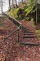 Pörtschach Leonstein Glorietteweg Treppe zur Hohen Gloriette 01032016 0712.jpg