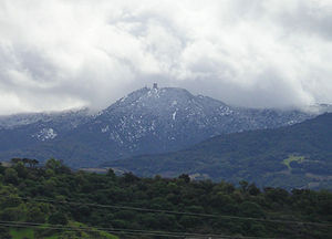 Mount Umunhum - Mount Umunhum is dusted with snow a few times a year.