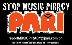 Philippine Association of the Record Industry - This is the anti-piracy poster of the Philippine Association of the Record Industry, Inc. (PARI)