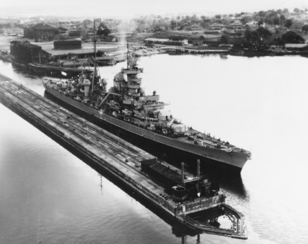 Prinz Eugen through Panama Canal in 1946