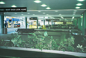 St. Pete–Clearwater International Airport - PIE's baggage-claim area has four baggage carousels (2009 photo)
