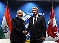 PM Narendra Modi and Canadian PM Stephen Harper at the 2014 G-20 summit.jpg