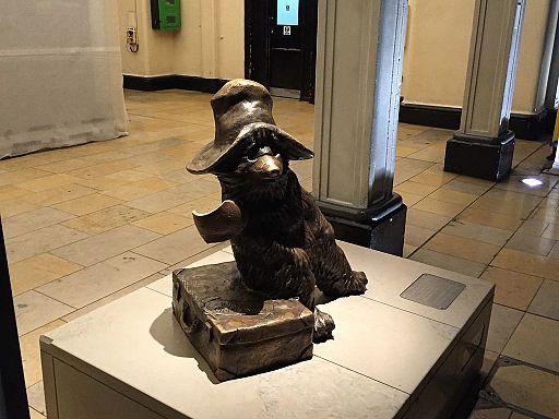 Paddington Bear Statue in new location at Paddington Station