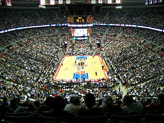 The Palace of Auburn Hills - The interior of the Palace of Auburn Hills during a Detroit Pistons basketball game in January 2006.