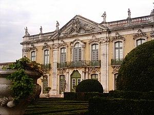 """Mateus Vicente de Oliveira - The """"Ceremonial Façade"""" of the Palace of Queluz by Mateus Vicente de Oliveira"""