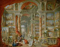 Giovanni Paolo Pannini: Galleria di Roma moderna