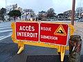 Panneau Accès interdit Risque de submersion (La Rochelle).JPG