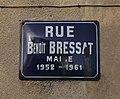 Panneau rue Benoît-Bressat (Niévroz, Ain, France).jpg