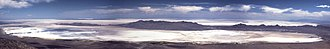 Silver Island Range - Image: Panorama of the Great Salt Lake Desert