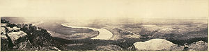 Lookout Mountain - A panoramic view from the top of Lookout Mountain, overlooking Chattanooga, February 1864, by George N Barnard