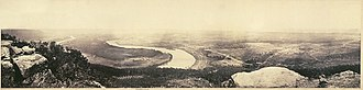Lookout Mountain - A panoramic view from the top of Lookout Mountain, overlooking Chattanooga, February 1864, by George N. Barnard