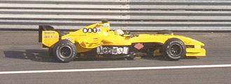 Giorgio Pantano - Pantano driving for Jordan at the 2004 French Grand Prix.