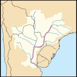 Curso y cuenca del río Paraná