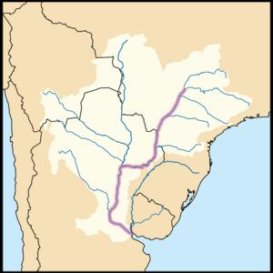 מפת הנהר פרנה ואגן הניקוז שלו
