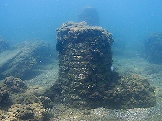 Portus Julius - Submerged remnants of the Roman harbour.