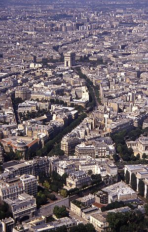 Avenue d'Iéna - View from the third floor of the Eiffel Tower