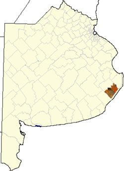 location of General Madariaga Partido in Buenos Aires Province