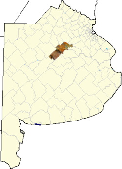 location of Veinticinco de Mayo Partido in Buenos Aires Province