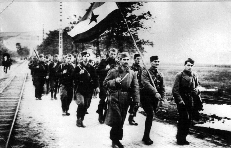 Partisans in liberated Novi Sad 1944