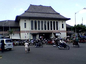 New Indies Style - Karsten's early attempt in producing an overtly Javanese form in Pasar Gede Harjonagoro.