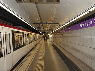 rapid transit line in Barcelona, Spain